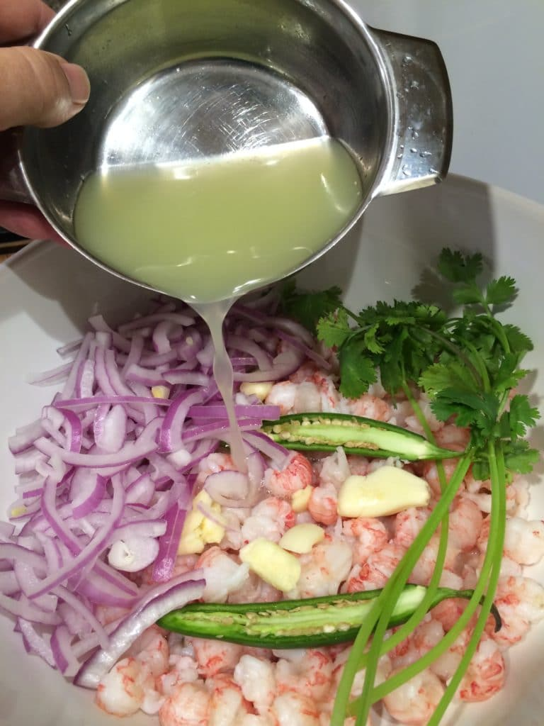 langostino ceviche lime juice