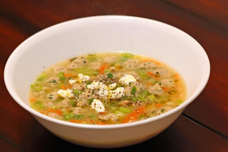 meatball soup bowl