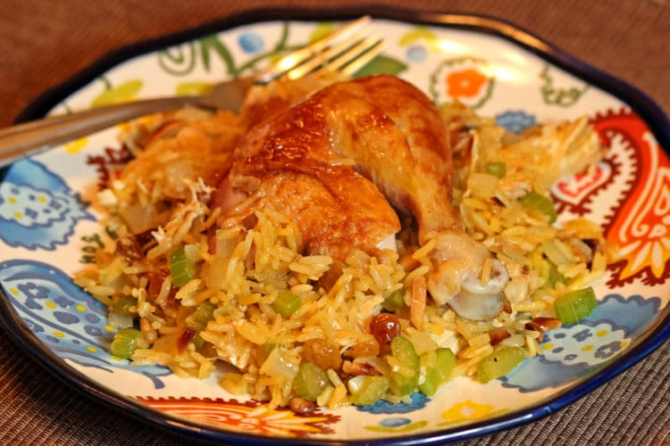 roast chicken saffron rice5
