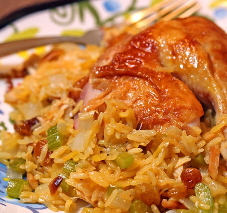 roast chicken saffron rice6