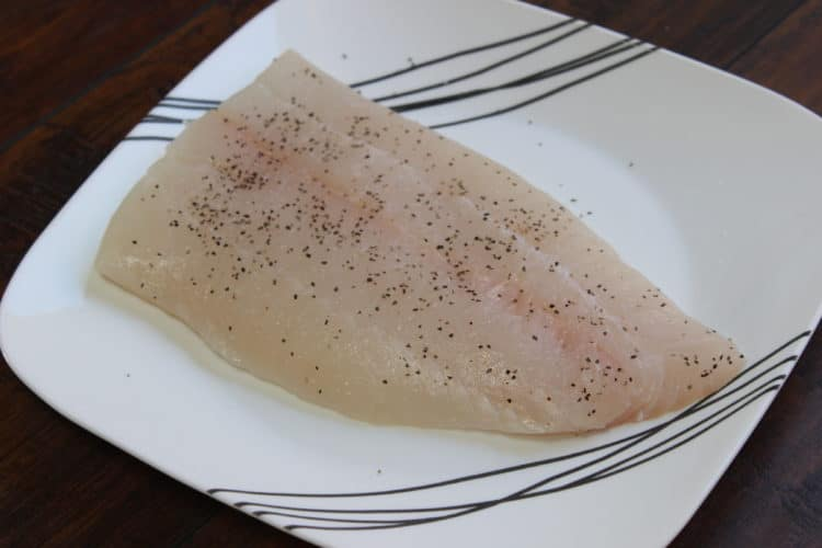 seasoned halibut