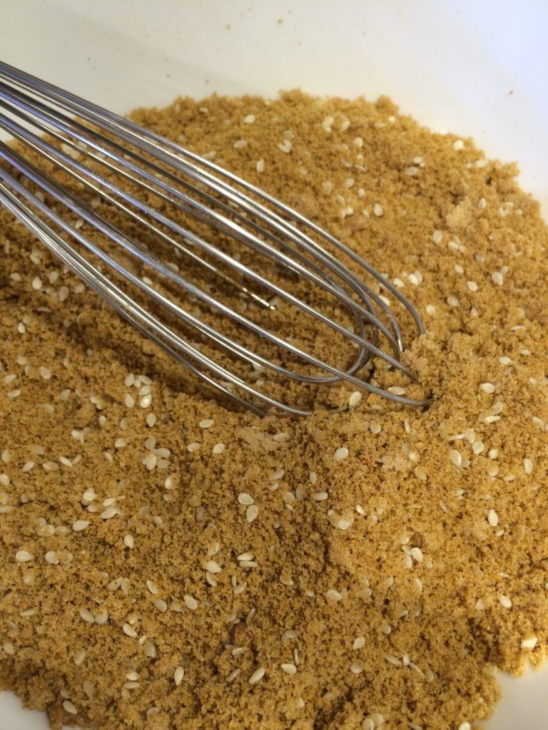 sweet curry ribs rub mixed