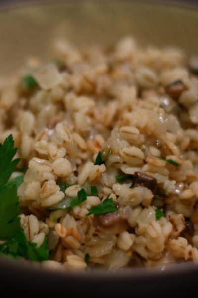 Barley with Basil and Parmesan