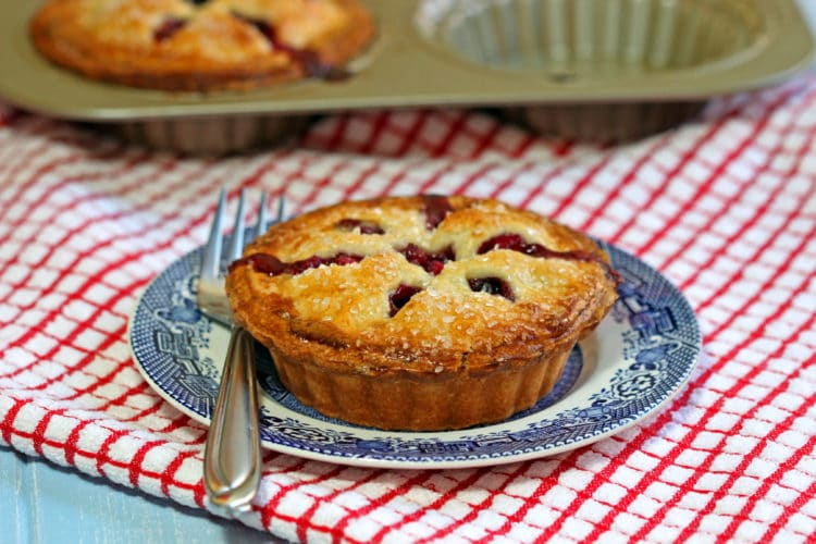 Apple Berry Mini Pies - keviniscooking.com