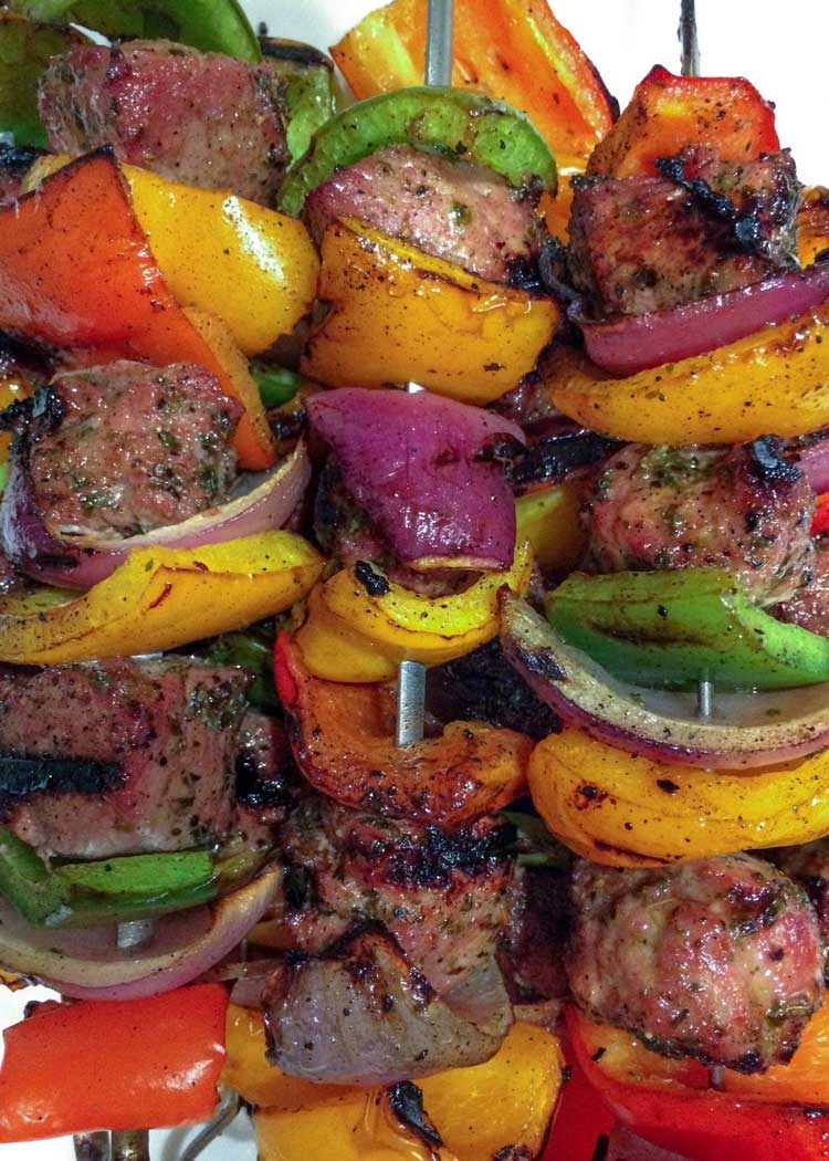Honey and Mint Lamb Kebobs