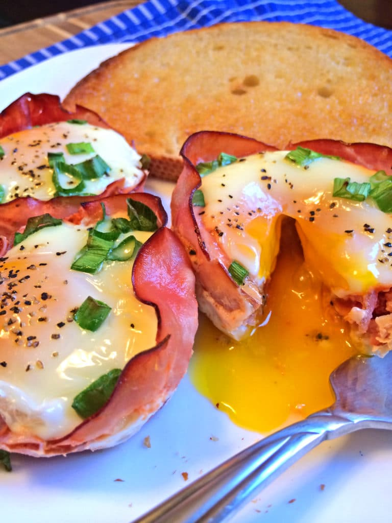 Baked Ham and Egg Cups - Kevin Is Cooking