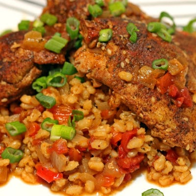 Moroccan Smothered Chicken and Barley