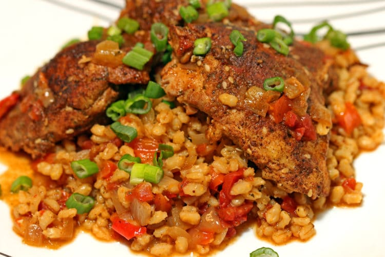 Moroccan Smothered Chicken and Barley1