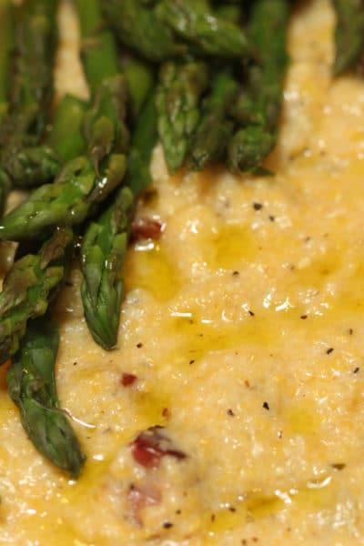 Pancetta Polenta with Asparagus