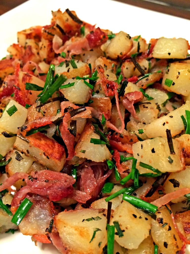 Roasted Potatoes with Prosciutto, Rosemary and Chives4