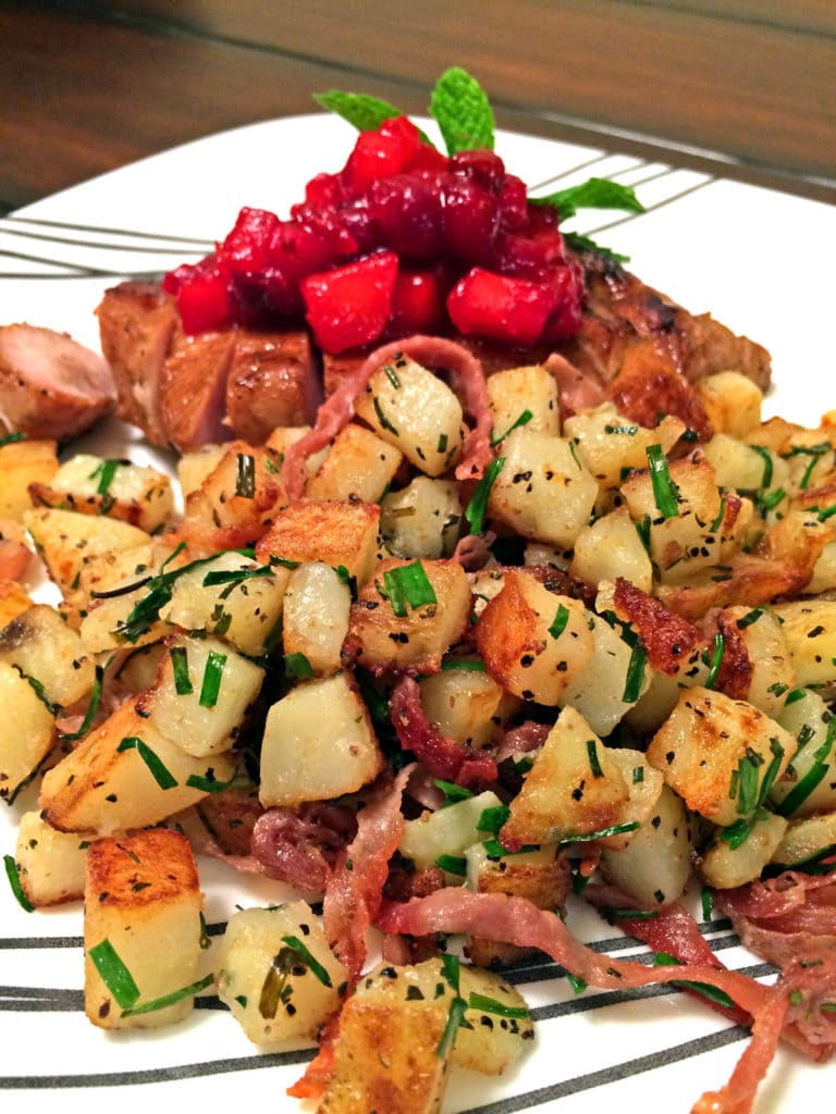 Roasted Potatoes with Prosciutto, Rosemary and Chives5
