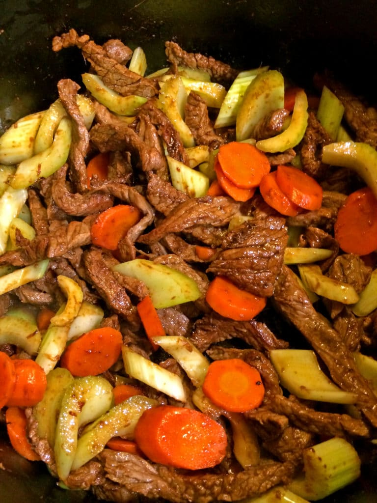 Spicy Coconut Beef and Vegetables5