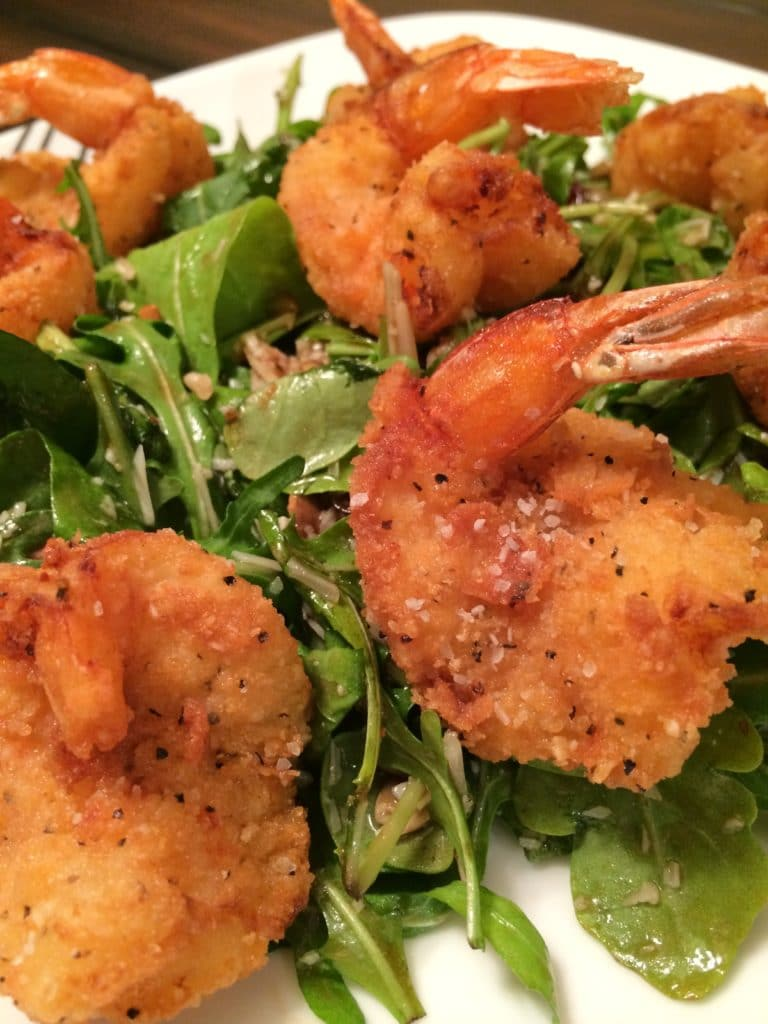 Spicy Fried Shrimp in Rice Krispie Coating - keviniscooking.com