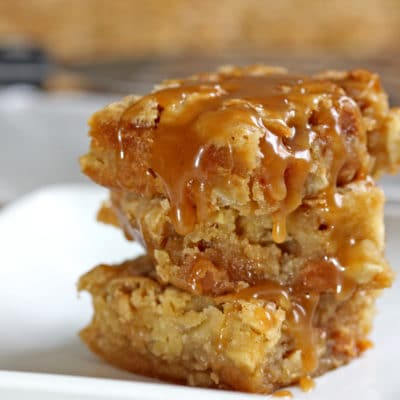 Cinnamon Apple Caramel Bars