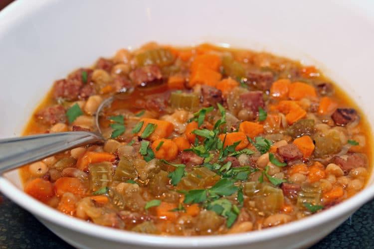 Sweet Potato, Ham and White Bean Soup1