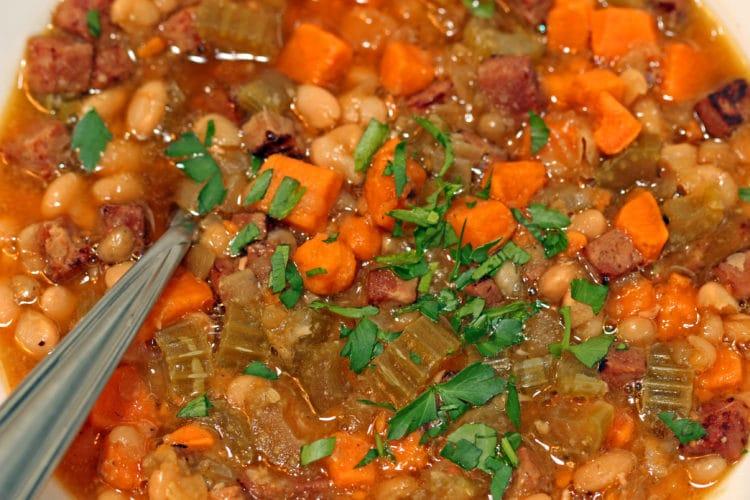 Sweet Potato, Ham and White Bean Soup3