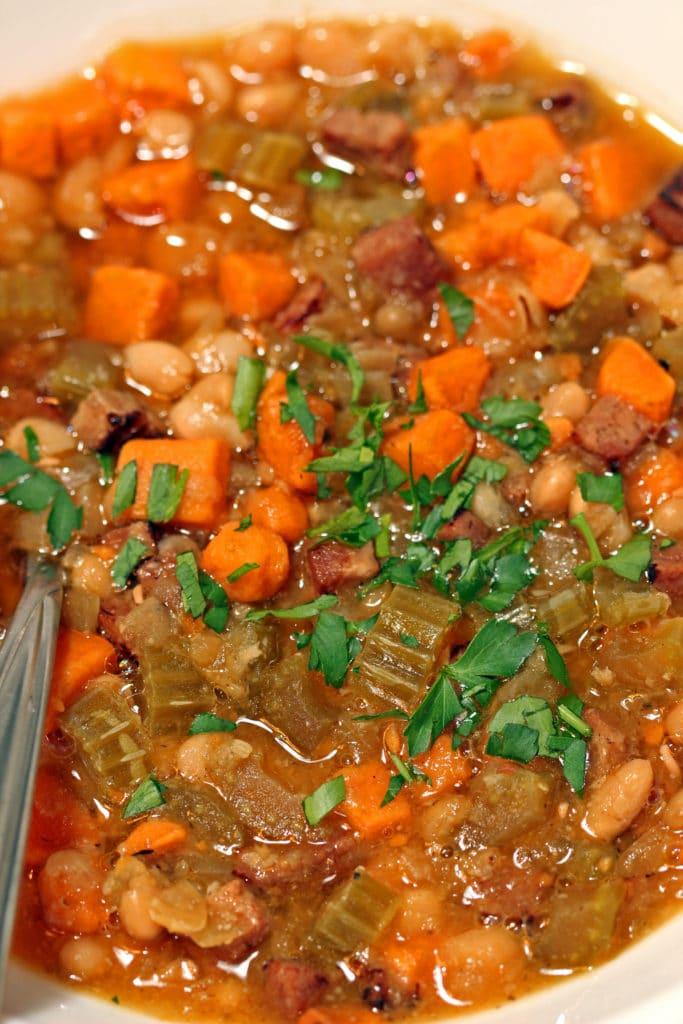 Sweet Potato, Ham and White Bean Soup5