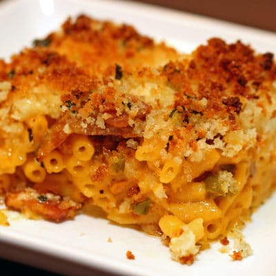 Bacon Mac and Cheese Bake with Jalapeños