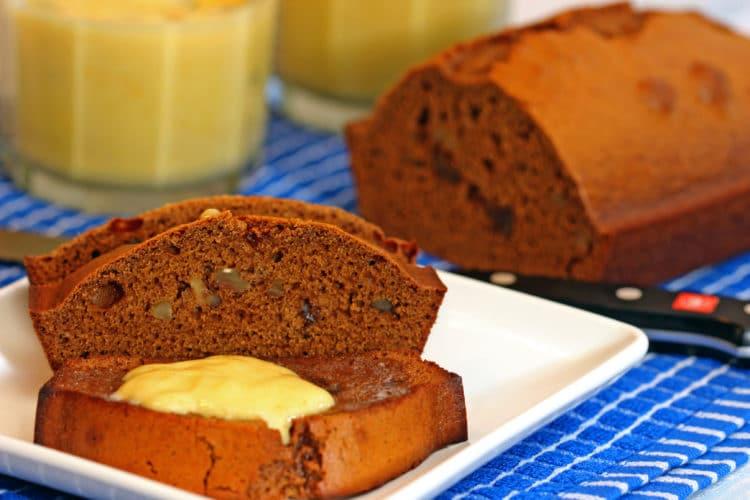 Gingerbread Loaf with Lemon Curd - keviniscooking.com