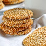 Almond Tahini Cookies with Cinnamon Icing
