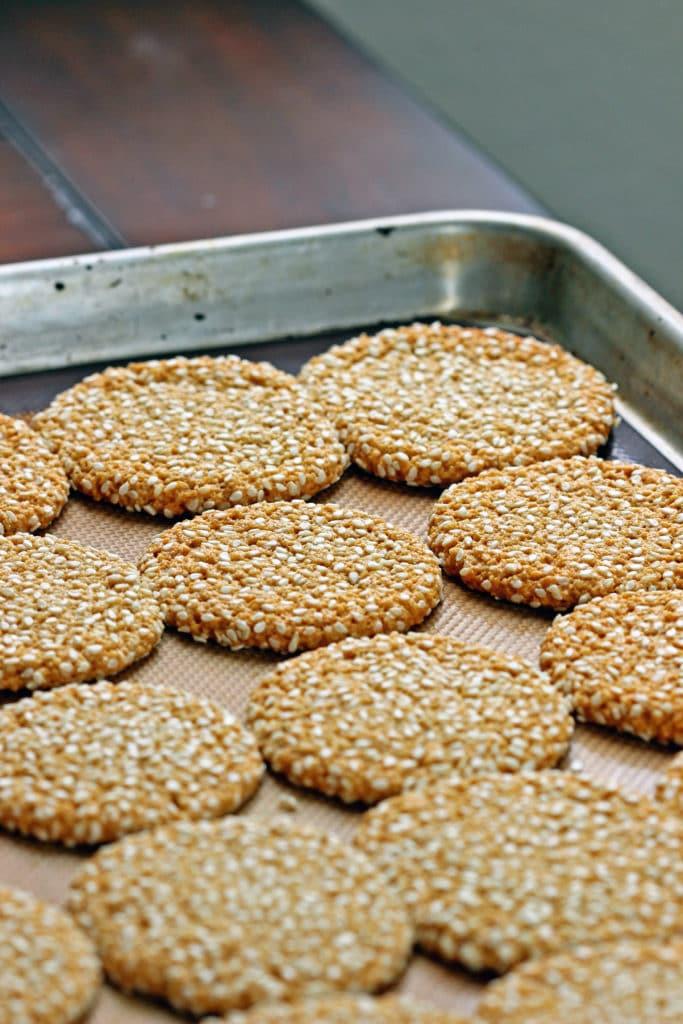 Almond Tahini Cookies with Cinnamon Icing5
