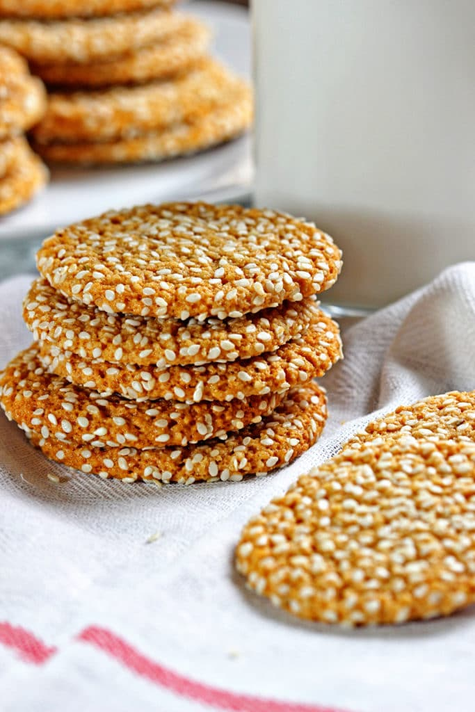Almond Tahini Cookies with Cinnamon Icing6