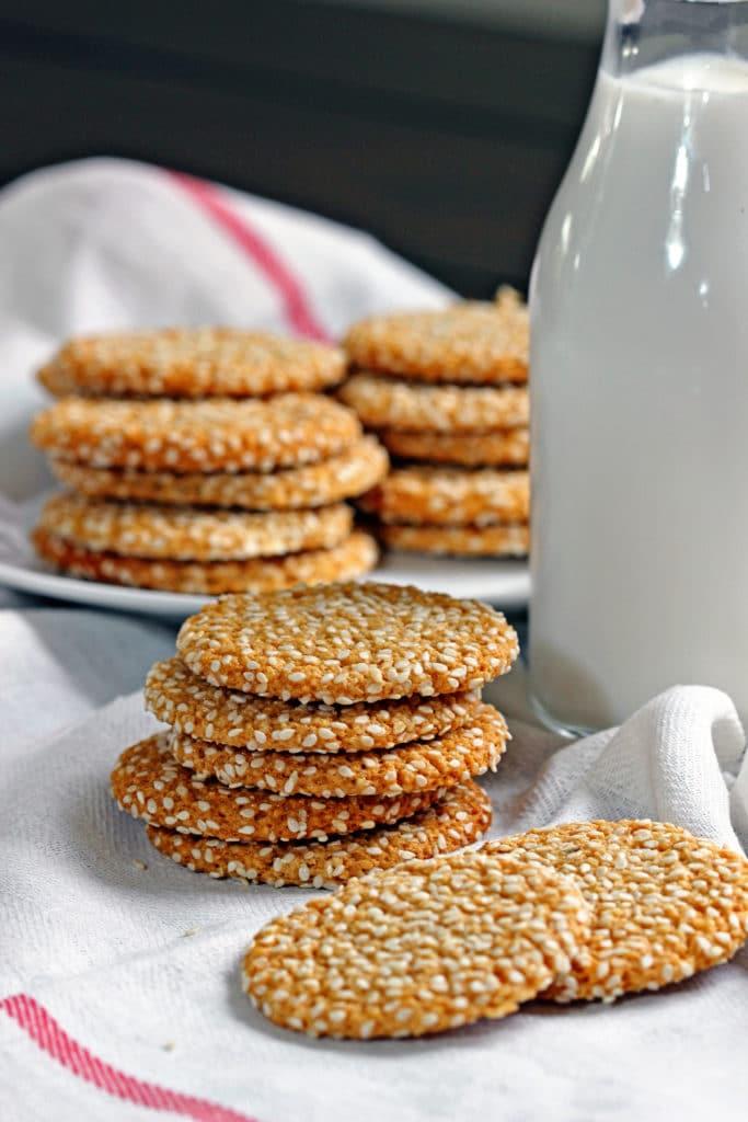 Almond Tahini Cookies with Cinnamon Icing7