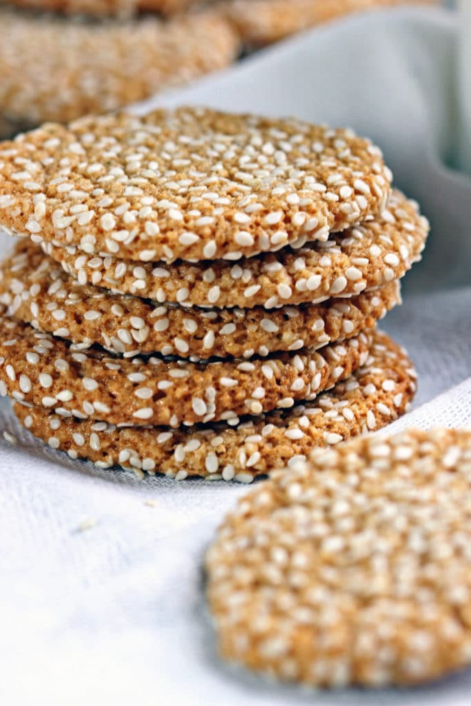 Almond Tahini Cookies with Cinnamon Icing8