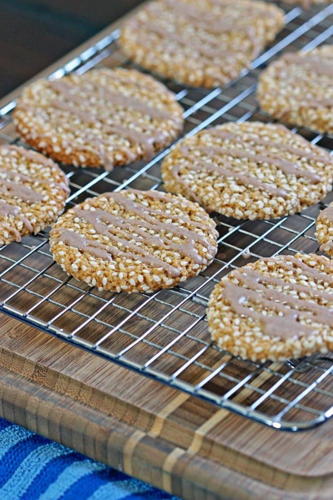 Almond Tahini Cookies with Cinnamon Icing9