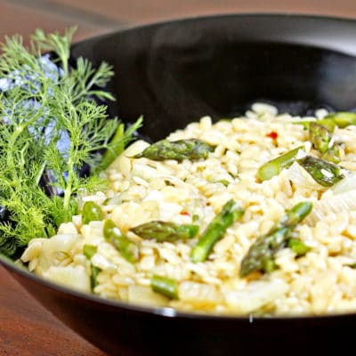 Orzo with Asparagus and Fennel