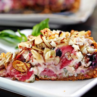 Berry Goat Cheese and Basil Tart