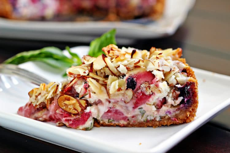 Blueberry, Goat Cheese and Basil Tart10