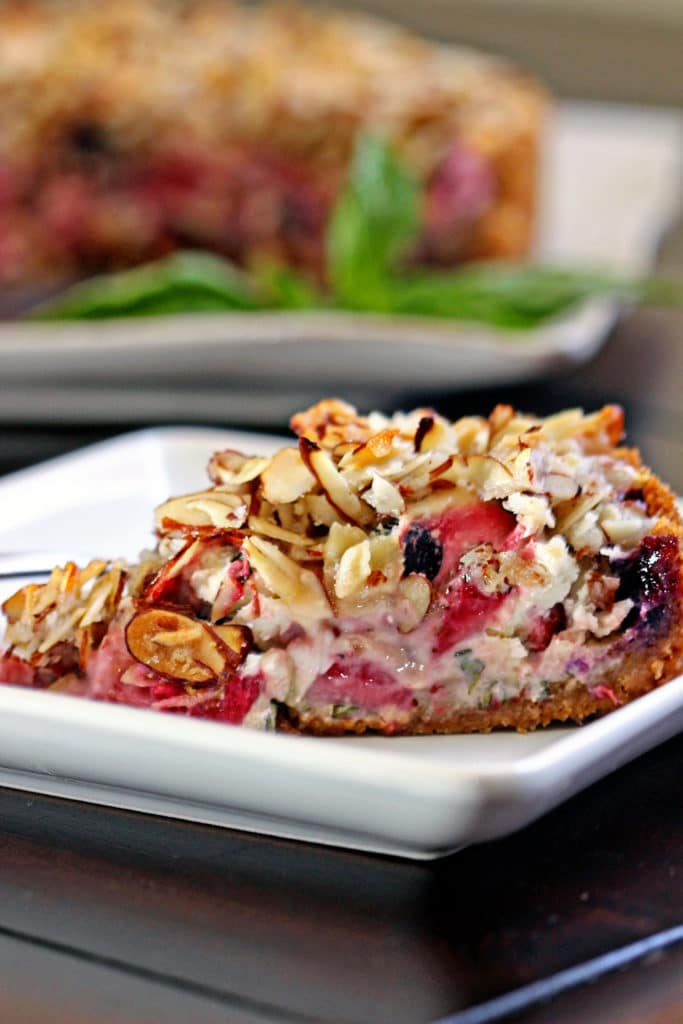 Blueberry, Goat Cheese and Basil Tart7