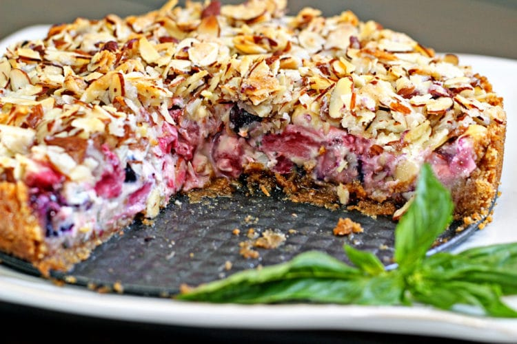 Blueberry, Goat Cheese and Basil Tart8