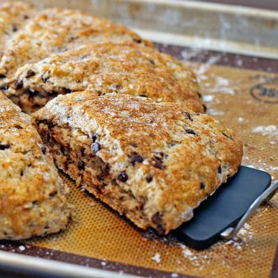 Chocolate Chip Pecan Buttermilk Scones