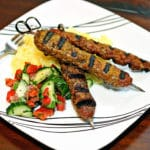 Grilled Lamb and Beef Koobideh Kebabs with Saffron Butter