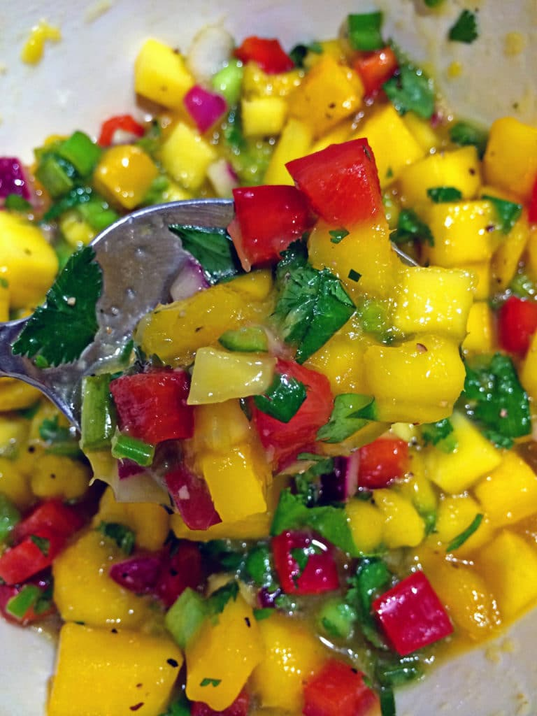 Mango Salsa on Grilled Swordfish2