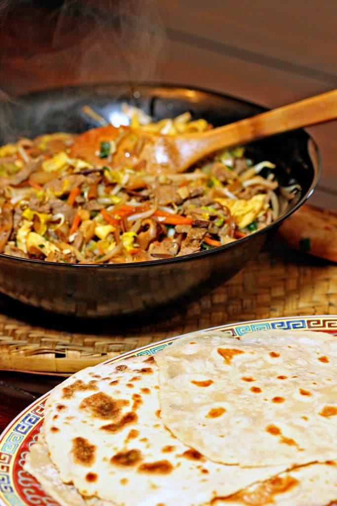 Moo Shu Pork with Homemade Pancakes1