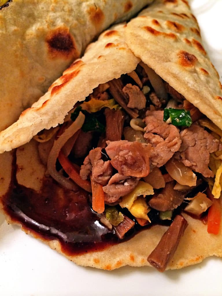 Moo Shu Pork with Homemade Pancakes - keviniscooking.com