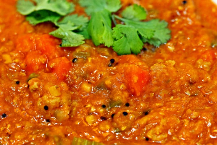 Hot Bowl Of Spicy Lentil Soup With Buttered Bread Recipes ...