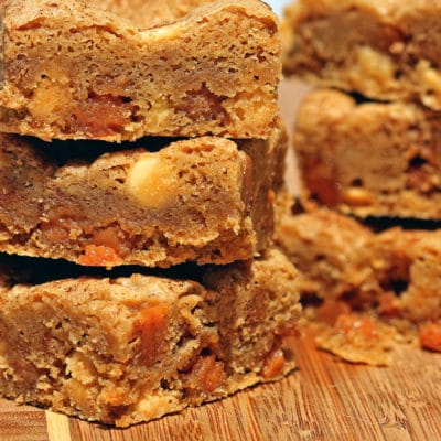 White Chocolate Caramel Blondies