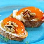 Apricot Ricotta Crostini