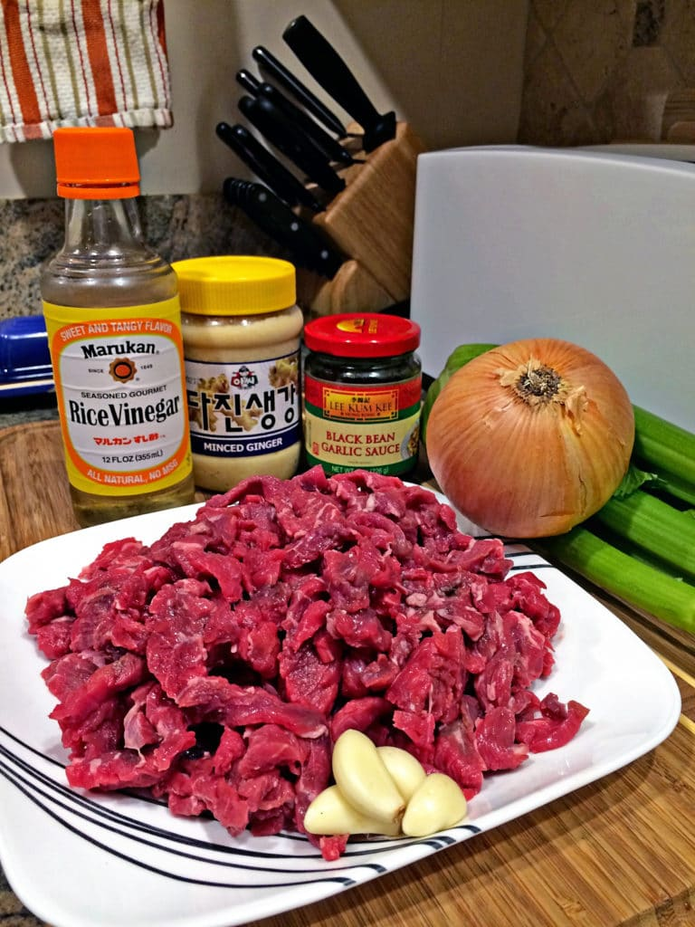 Black Bean Beef Stir Fry with Celery1
