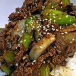 Black Bean Beef Stir Fry with Celery