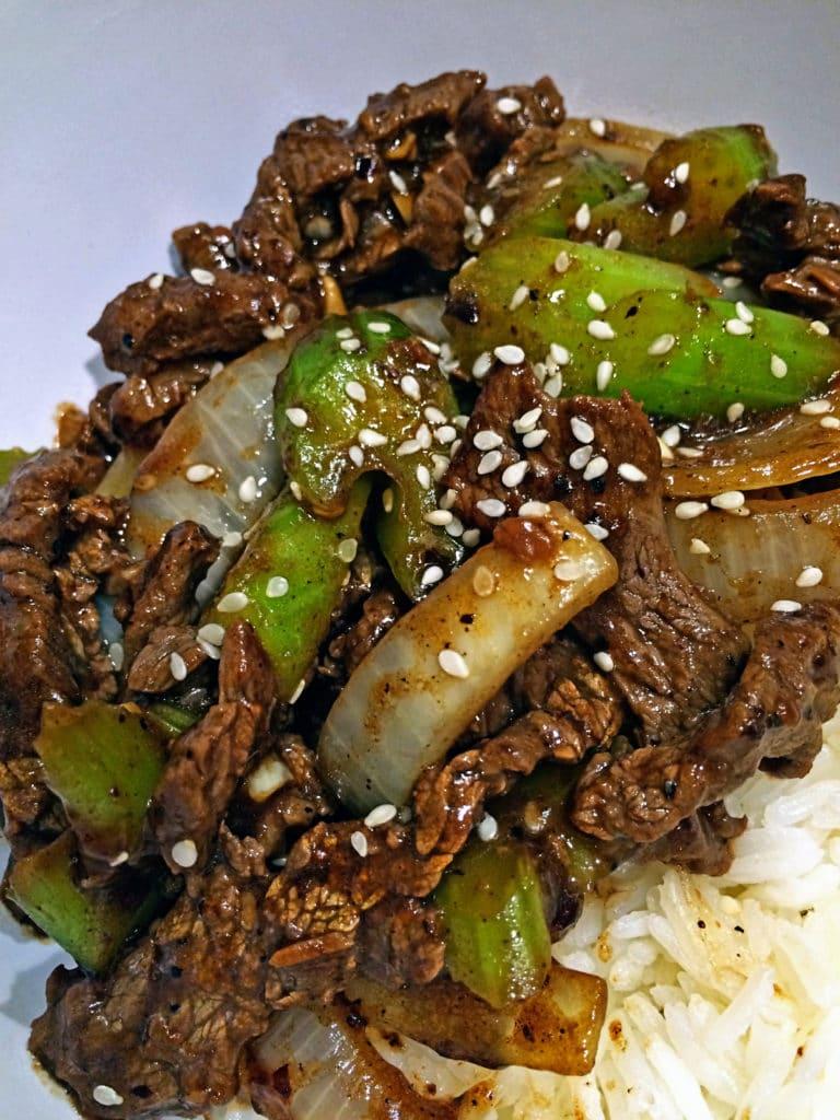 Black Bean Beef Stir Fry with Celery7