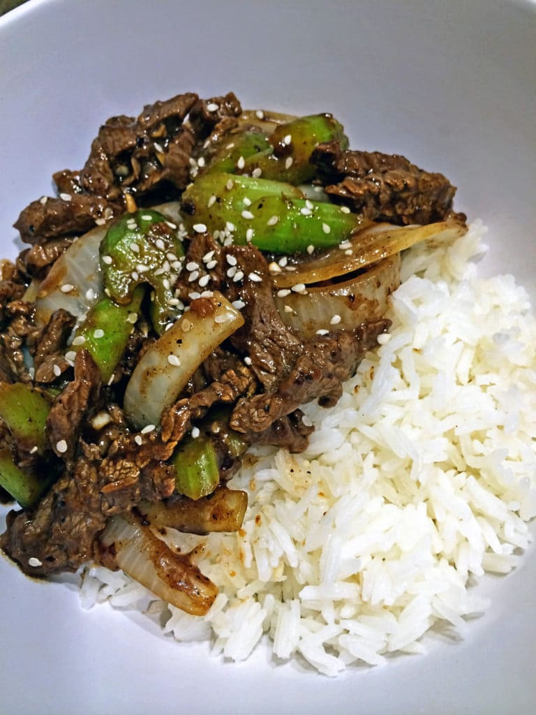 Black Bean Beef Stir Fry with Celery8