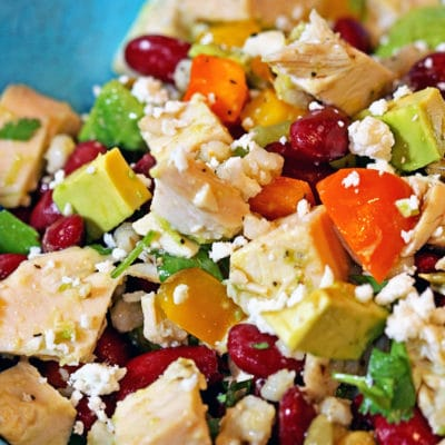 Avocado, Bean & Cotija Chicken Salad
