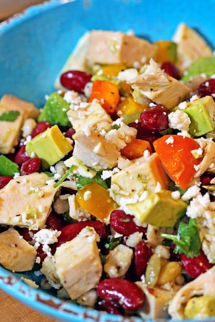 ABC Chicken Salad - Avocado, Bean & Cotija