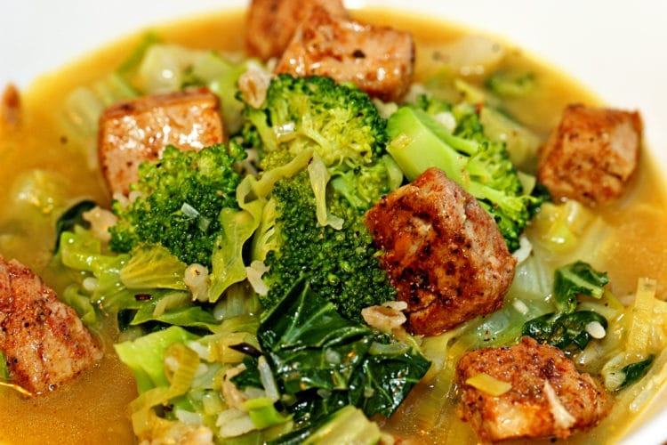 Blackened Ahi Vegetable Soup1