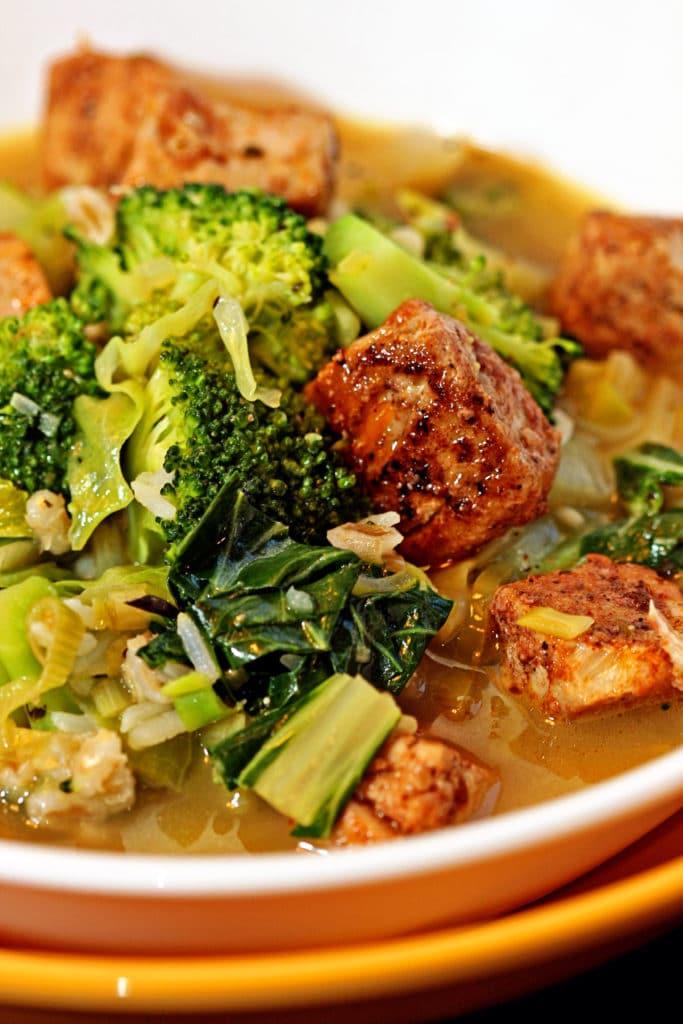 Blackened Ahi Vegetable Soup7